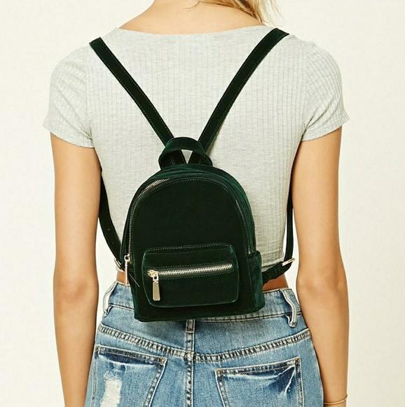 644d20e3d240 Forever 21 Handbags - Forever 21 Velvet Mini Backpack